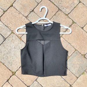 💜  3/25$ | Zara Trafaluc Black Cropped Cutout Top